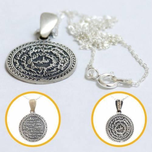 Zincirli Kıtmir Kolye (Nazar Dualı) Gümüş Bayan Kolyesi1