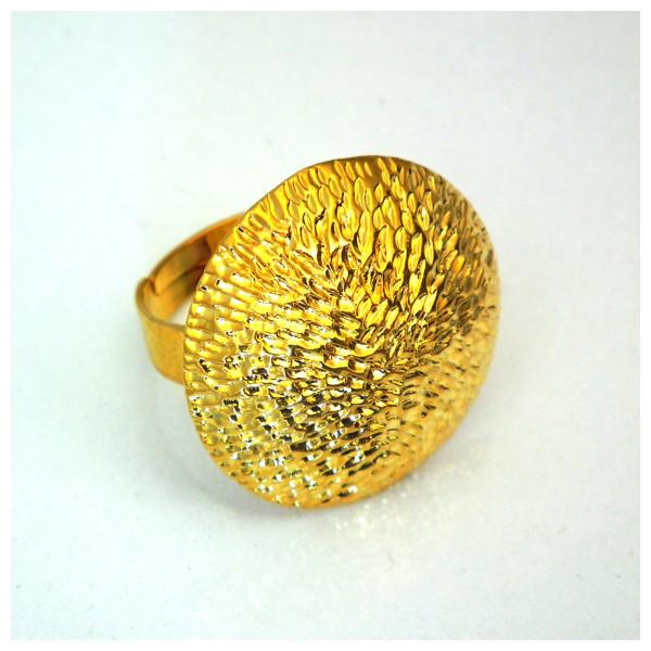 Altın Kaplama Bayan Yüzük-Antika Takı Tasarımlı