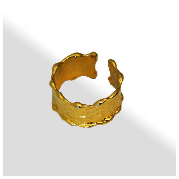 Pirinç Bayan Yüzük-Altın Kaplama Bayan Yüzüğü