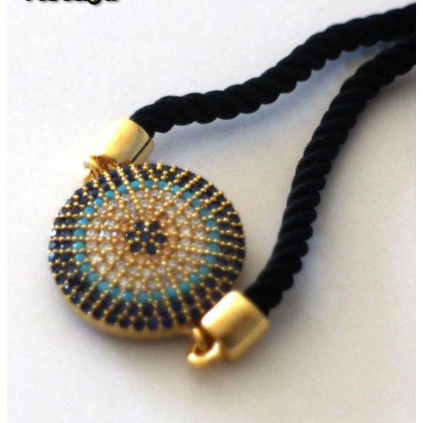 Altın Kaplama Nazar Boncuklu Bayan Bilekliği-Ücretsiz Kargo