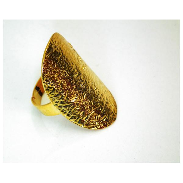 Altın Kaplama Bayan Yüzük-Antika Tasarımlı